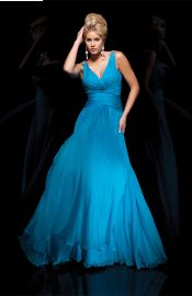 Elegant Chiffon Floor Length Sleeveless V-neck Zip up Evening Dress Affordable Evening Gowns, Prom Dresses, Formal Dresses, Wedding Dresses, Chiffon, Tony Bowls, Mademoiselle, Bridal Gowns, Ball Gowns