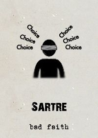 #Sartre's #Existentialism demanded we accept and embrace our radical #freedom. We should realise that we are the agents of our fate. Those moments in life which we try to hide, or surrender, this freedom, Sartre called 'Bad Faith'.