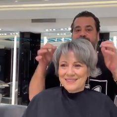 Hair Transformation 😍😍❤️💗❤️ - Make-up-Kontur Hair Cutting Techniques, Hair Color Techniques, Short Grey Hair, Short Hair Cuts, Black Hair, Grey Hair Video, Grey Hair Transformation, Grey Hair Inspiration, Gray Hair Highlights