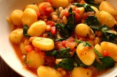 Kale and White Bean Ragout with Gnocchi, amazing Meatless Monday dish!