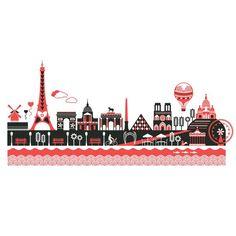 Paris Skyline by Kate McLelland