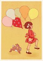 Belle and Boo Postcard. Love belle & boo x Belle E Boo, Portrait Au Crayon, Art Carte, Art Et Illustration, Vintage Artwork, Eeyore, Birthday Balloons, Vintage Postcards, Cute Drawings
