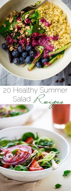 20+ Healthy Summer Salad Recipes  - The best summer salad recipes that taste great and will lighten up your waistline! | Foodfaithfitness.com | @FoodFaithFit