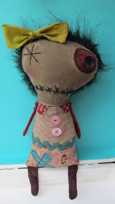 Lovely Lucy Handmade Art Doll by SewZany on Etsy, $38.00
