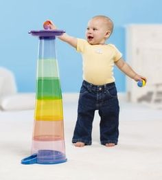 Stack n Roll Tumbling Tower by Moolka.com