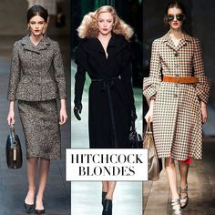 Fall 2013 Runway Report: Hitchcock Blondes