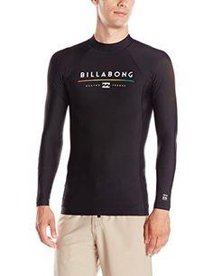 Billabong Men's All Day Regualr Fit Long Sleeve Rashguard, Black, Small  http://fishingrodsreelsandgear.com/product/billabong-mens-all-day-regualr-fit-long-sleeve-rashguard/?attribute_pa_size=small&attribute_pa_color=black  Regular fit long sleeve rash guard 6 cover. Silk touch fabric