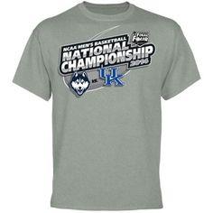 Fanatics.com: UConn Huskies vs. Kentucky Wildcats 2014 NCAA Men's Basketball National Championship Matchup T-Shirt - Ash