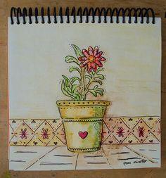 florecer | por pau.minotto #acuarela