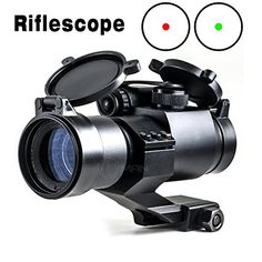 Hunting- IORMAN Original Tactical Hunting Rifle Scope Optics Red/Green Mil-dot Illuminated Holographic Scope 4 MOA Reflex Sight with 20mm Weaver/Picatinny Rail for Aiming * Check out this great product.