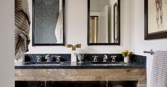 great idea for powder room. - #TODesign #interiordesign - via Ryan Sun - http://ift.tt/1Pj7GY8 interiordesign