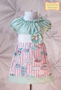Candy shop dress Peasant dress Spring dress by 3cutiepiesbowtique, $44.00