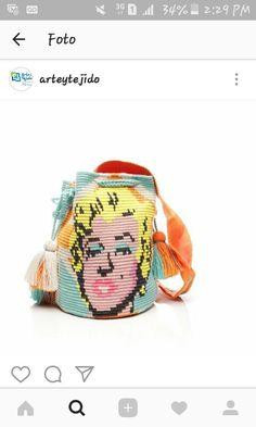 Marilyn Monroe wayuu Mochila bag