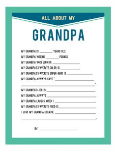 Special Quotes for Grandfathers | Fathers Day Printable |Persnickety Prints