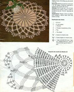 Home Decor Crochet Patterns Part 126 - Beautiful Crochet Patterns and Knitting Patterns Filet Crochet, Mandala Au Crochet, Crochet Doily Patterns, Crochet Diagram, Crochet Chart, Thread Crochet, Irish Crochet, Crochet Designs, Crochet Stitches