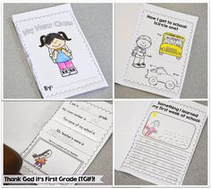 My new class! Students complete a mini-book during their first week of school!
