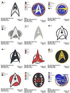 Star Trek sewing badges
