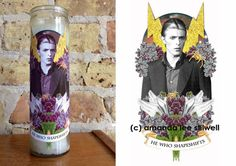 DAVID BOWIE Altar Candle: He Who Shapeshifts by LastCraft on Etsy