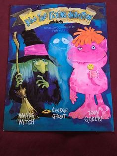 Gibson Puzzle Card Halloween Monster Witch Ghost Vintage Rare NOS