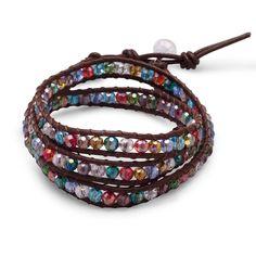 Multicolor Crystal Wrap Fashion Bracelet