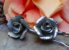 Decorative Romantic Lisner Bridal Silver Rose Hair by WillowBloom, $26.50