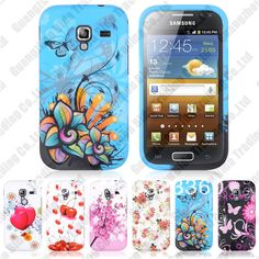 On Stock TPU Plastic Various Printed Back Case For Samsung i8160 Galaxy Ace 2