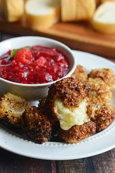 Nut-Crusted Fried Brie Bites.  This cheesy appetizer is perfect for your Thanksgiving or Christmas feast! | hostthetoast.com