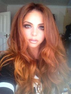 Jesy Nelson shares picture of new ginger hair, 19 April 2014