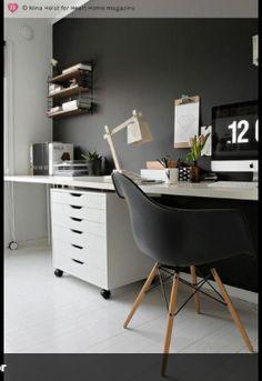escritorio parede com lousa