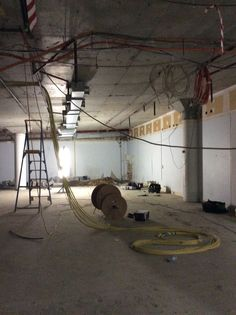 Demolition continues as new stores are fitted with electricity, plumbing and other services
