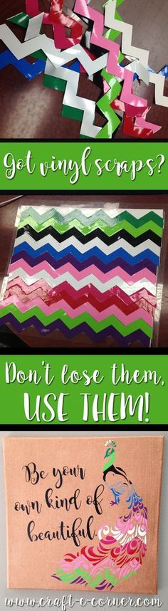 Got vinyl scraps?  Don't lose them, USE THEM!  I'm never throwing away another scrap of vinyl!  #reduce #reuse #recycle Squeezing every last project out of my vinyl!