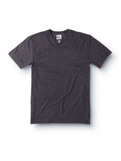 Blank Heather V-Neck Slim T-Shirt