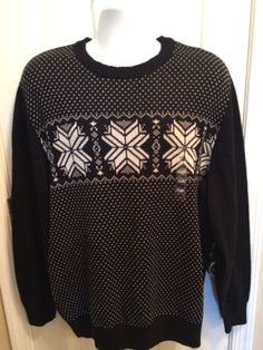 Dockers Men 039 s Black Nordic Sweater Size XL New | eBay
