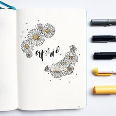 Discover recipes, home ideas, style inspiration and other ideas to try. Bullet Journal Lettering Ideas, Bullet Journal Cover Ideas, Bullet Journal Layout, Journal Covers, Bullet Journal Inspiration, Journal Pages, Birthday Bullet Journal, April Bullet Journal, Bullet Journal Aesthetic