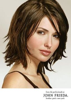 layered hair. If I get my hair cut above my shoulders this is the only way.