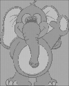 baby blue elephant free cross stitch pattern
