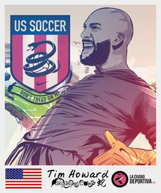 Stickers Brazil 2014: Tim Howard - USA by akyanyme.deviantart.com on @deviantART