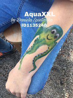 Mit unseren GONIS Buntstiften AquaXXL habe ich diese freundliche Krake geschminkt.