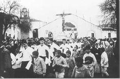 Foto antigua de la procesión del Cristo