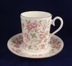 Royal Albert Rose China Chintz Series Pink Brocade 1982 Demitasse