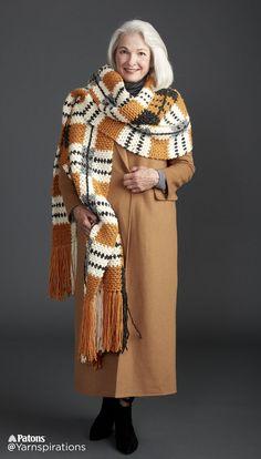 Big Tartan Crochet Super Scarf - Patterns   Yarnspirations