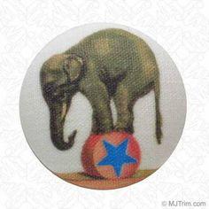 Elephant Button W/Shank - M&J Trimming