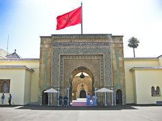 The Royal Palace, Rabat, Morocco. Royal Palace, North Africa, Royal Families, Middle East, Taj Mahal, Entrance, Doors, Architecture, World