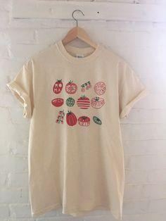 Tomato Varieties Screen Printed T Shirt, Vegetable Print
