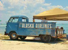 Vw Bus t1 pickup, Alaska Airlines.