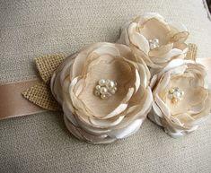 Rustic Wedding Sash Wedding Dress Belt Champagne Sash