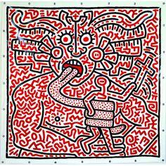Keith Haring, Unititled, August 25, 1983. Image courtesy of the Musée d'Art Moderne del la Ville de Paris.