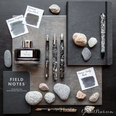 These fountain pens rock! Get solid tool to build the bedrock of your writing instrument collection with Thursday Things: Onyx Grey. Most Expensive Pen, Cool Stationary, Goulet Pens Company, Dog Pen, Luxury Pens, Stationery Pens, Calligraphy Pens, Fountain Pen Ink, Penmanship