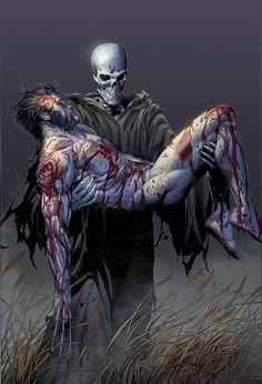 Aww, Wolvie scooped up by death like a little baby XD Ahaha... Death is definitely staring at his-EHEM though -Will