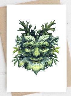 Green Man birthday card,personalised cards,Thank you card notecard, greeting card,birthday cards,Green Man Cards for all occasions Birthday Cards For Him, Card Birthday, Birthday Greeting Cards, Note Cards, Thank You Cards, Personalised Cards, Cards For Boyfriend, Congratulations Card, Green Man